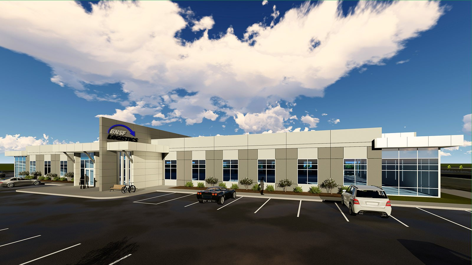 BNSF Logistics Architectural Rendering - Northwest Arkansas Industrial Office Property Acquired