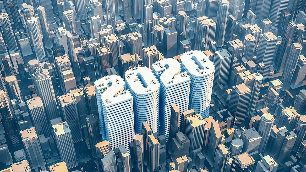 2020 City Scape representing Real Estate Investing with the Lessons of 2020